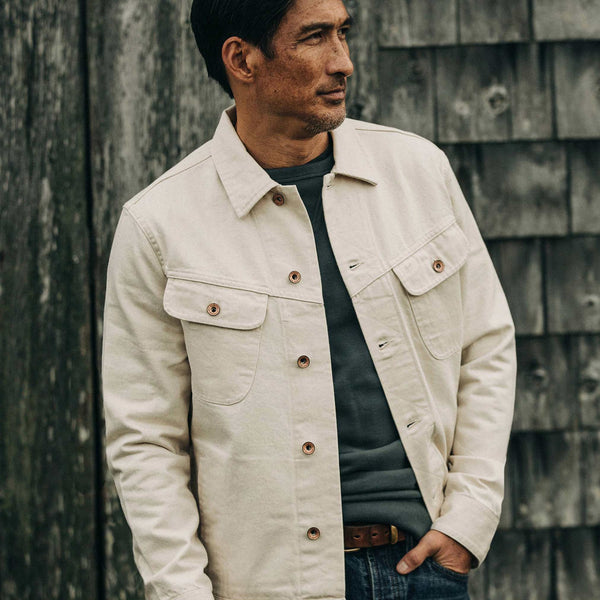 The Long Haul Jacket in Natural Organic Selvage