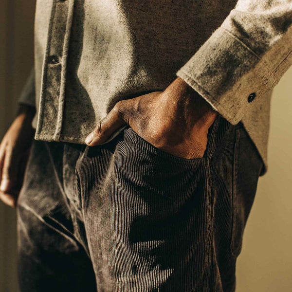 Camp Pant in Charcoal Corduroy