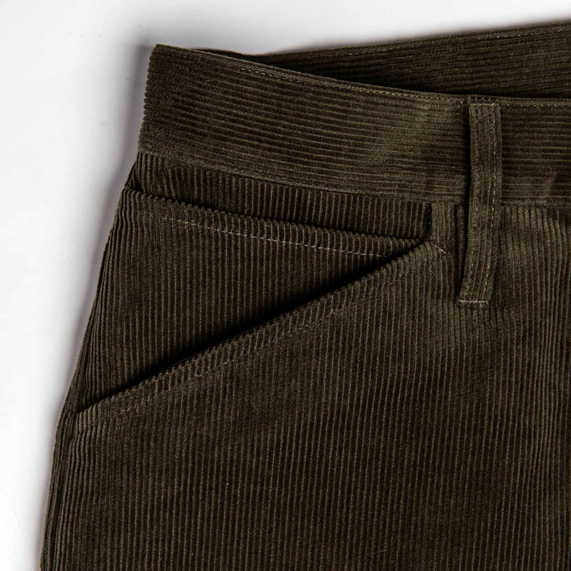 Camp Pant in Olive Corduroy