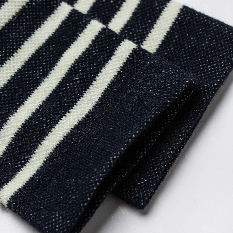 The Merino Sock in Navy Stripe