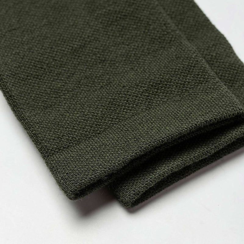 The Merino Sock in Olive