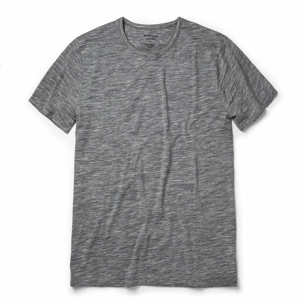 Merino Tee in Heather Grey
