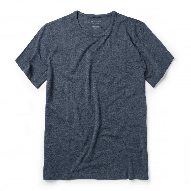 Merino Tee in Heather Navy