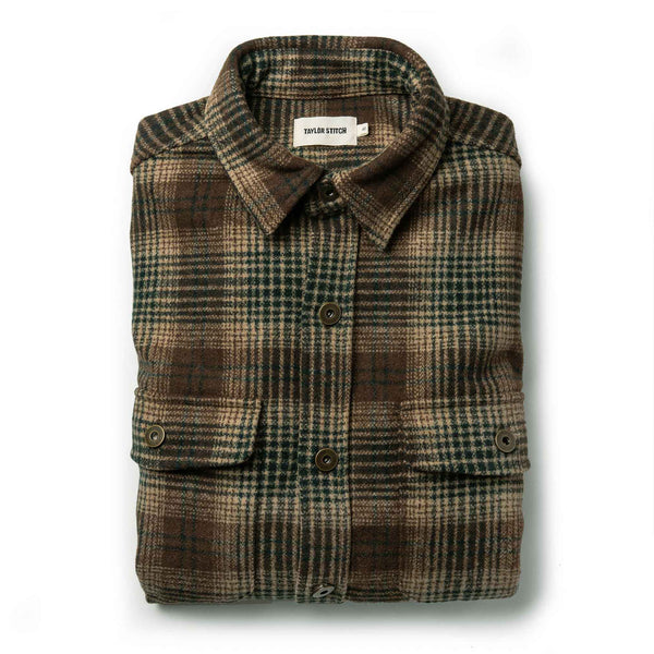 The Explorer Shirt in Tan Plaid