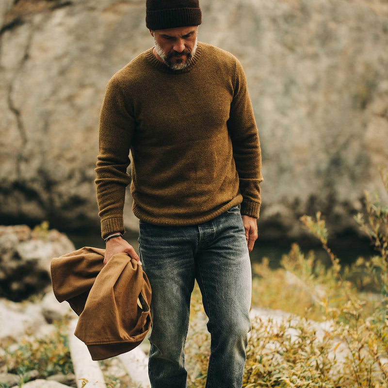 The Lodge Sweater in Ochre