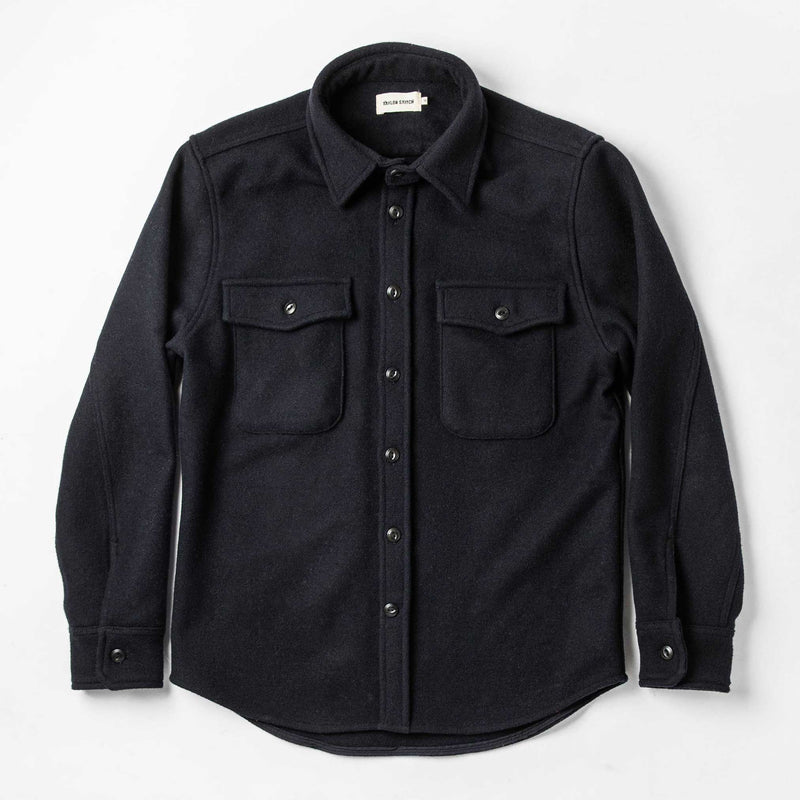 The Maritime Shirt Jacket in Deep Navy