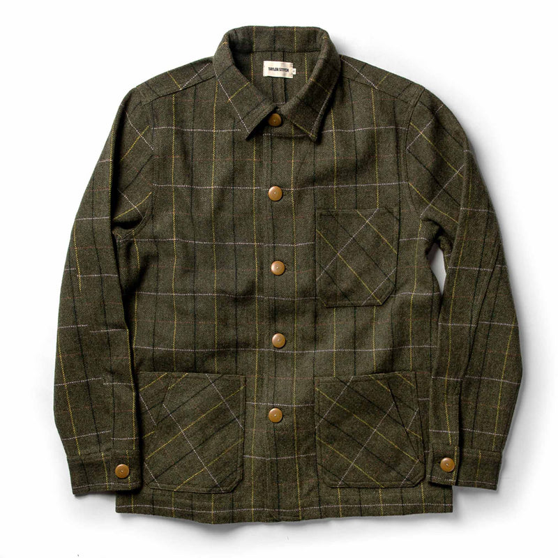 The Ojai Jacket in Olive Tweed Herringbone