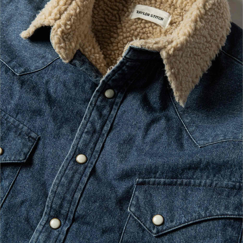 The Western Shirt Jacket in Indigo