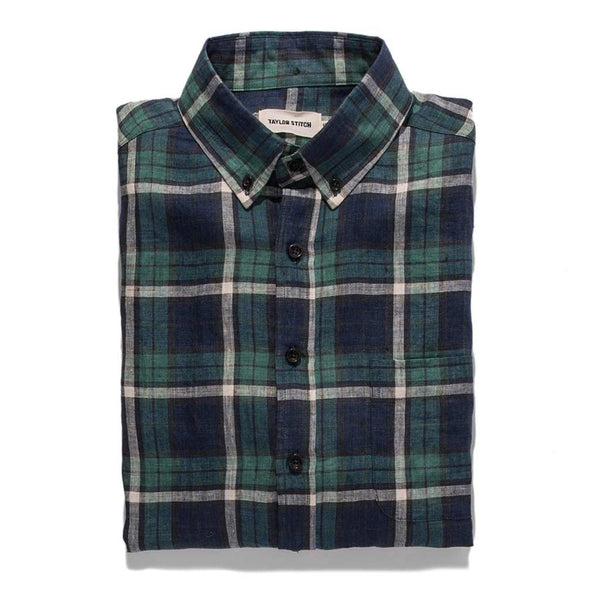 The Jack in Blackwatch Plaid Linen - The Revive Club