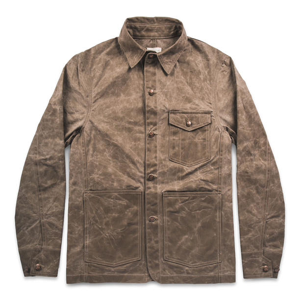 The Project Jacket in Field Tan Beeswaxed Canvas