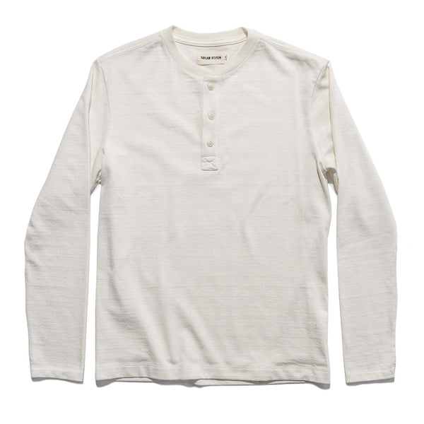 The Heavy Bag Henley in Natural - The Revive Club