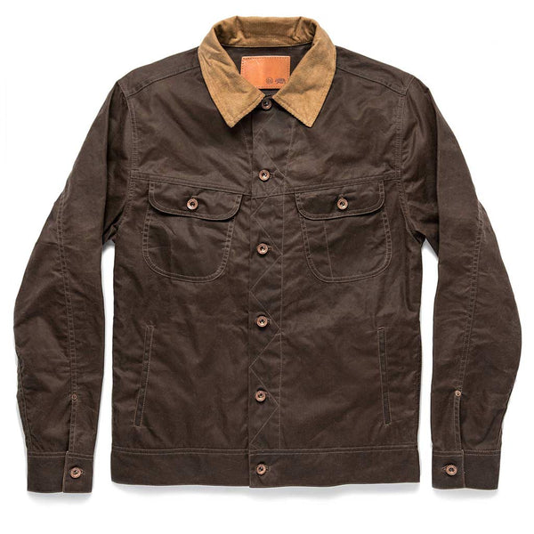 The Long Haul Jacket in Tobacco Waxed Canvas