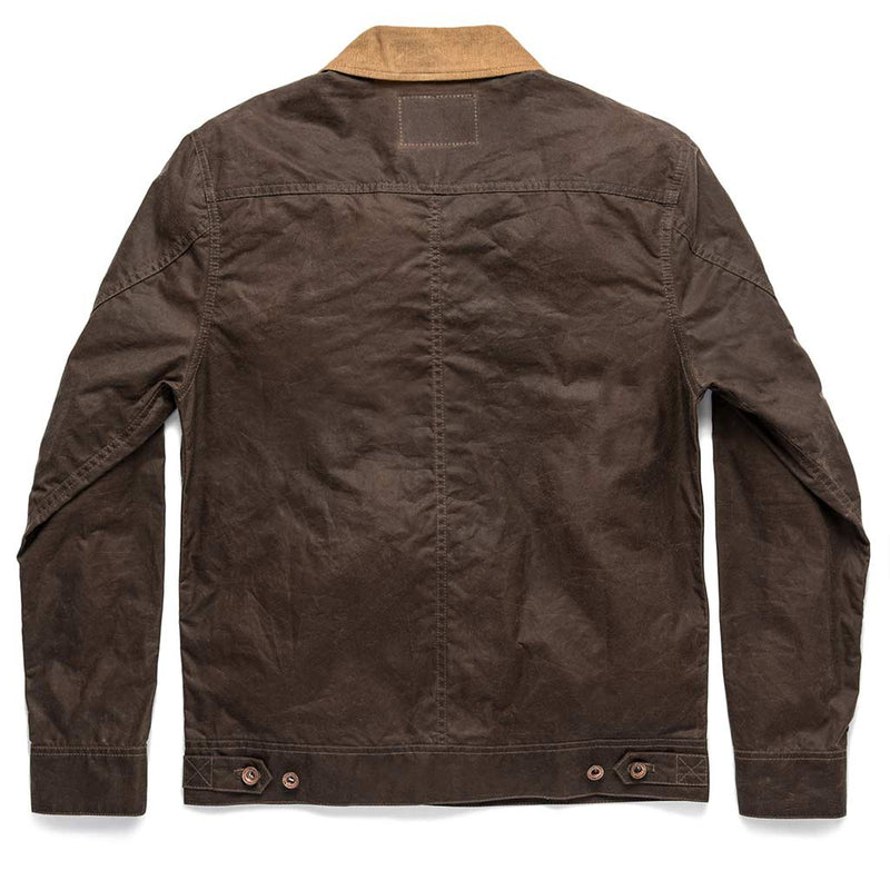 The Long Haul Jacket in Tobacco Waxed Canvas - The Revive Club