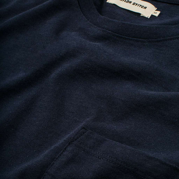 The Heavy Bag Tee in Navy - The Revive Club