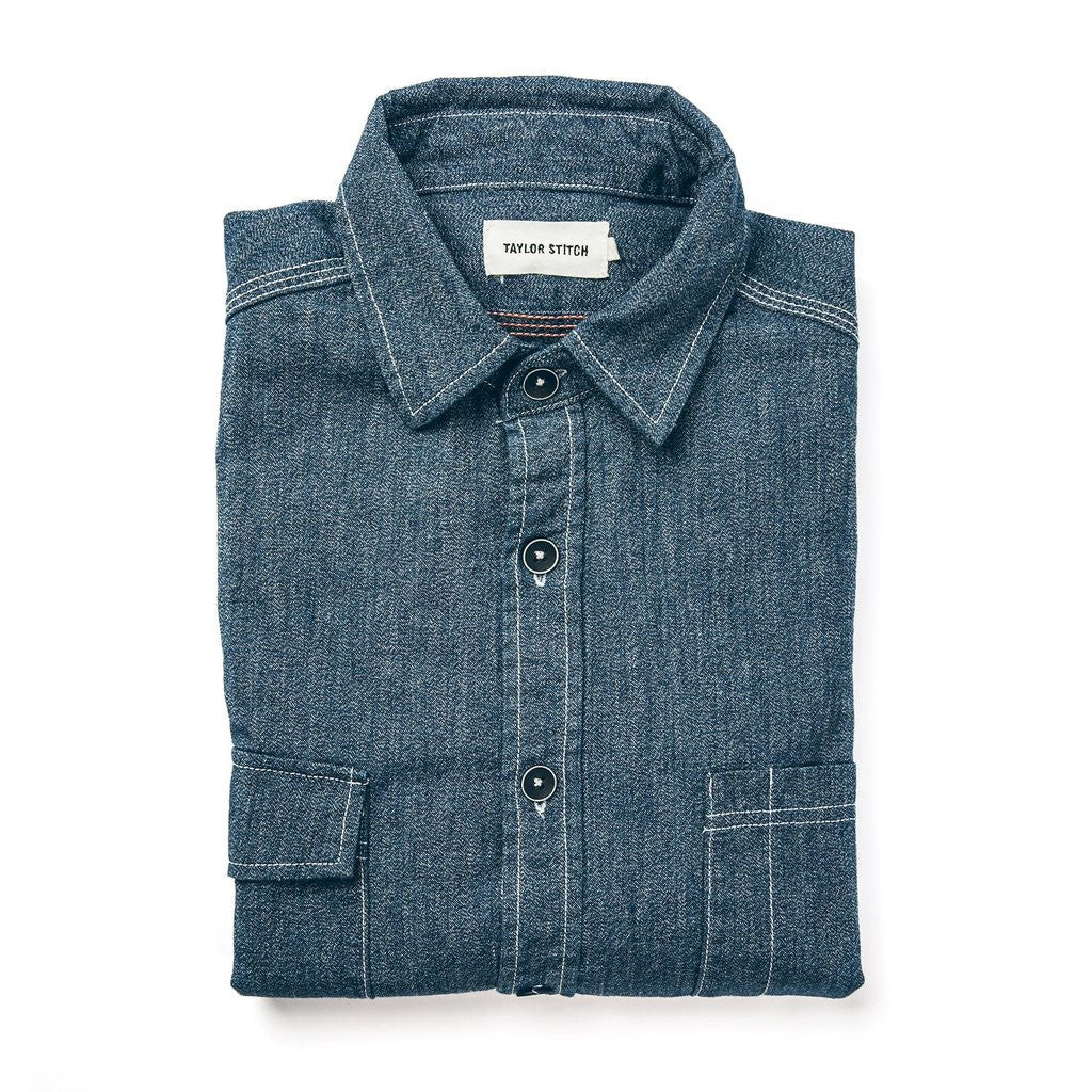 The Utility Shirt in Indigo Salt & Pepper Chambray