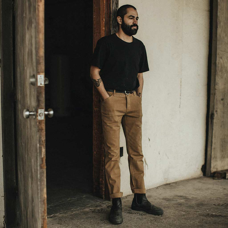 The Camp Pant in British Khaki Boss Duck - The Revive Club