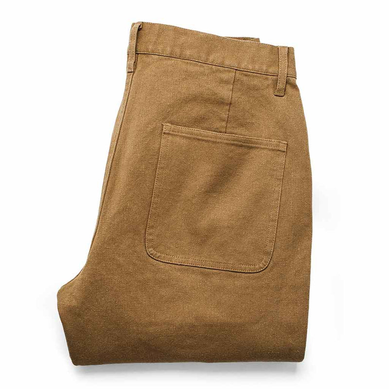 The Camp Pant in British Khaki Tuff Duck - The Revive Club