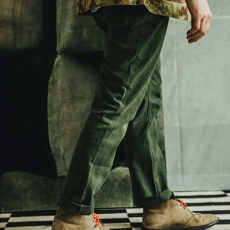The Camp Pant in Dark Olive Boss Duck - The Revive Club