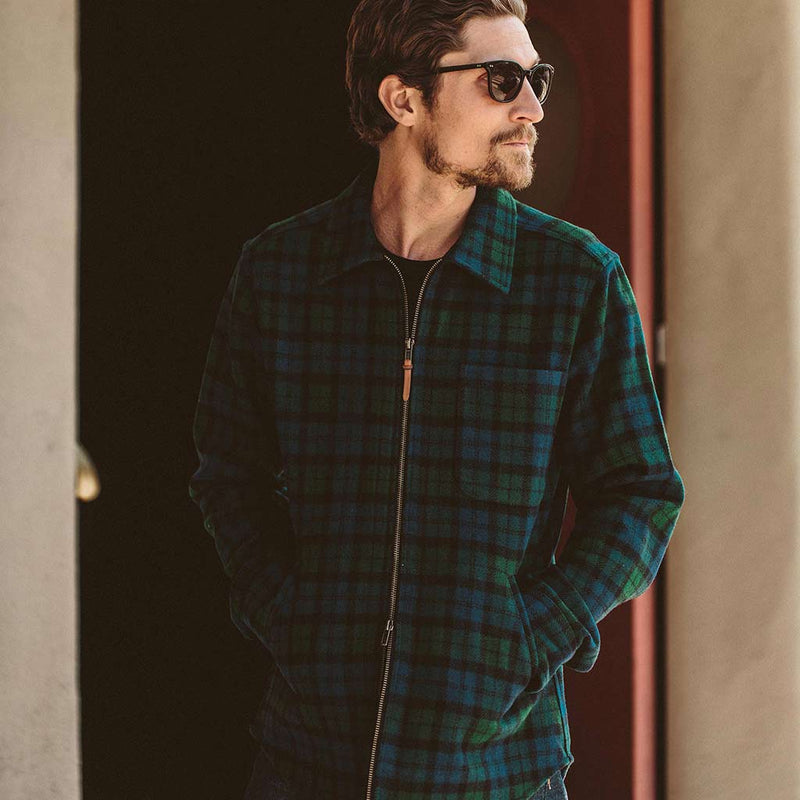 The Coit Jacket in Blackwatch Wool - The Revive Club