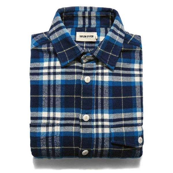 The Crater Shirt in Blue Plaid - The Revive Club