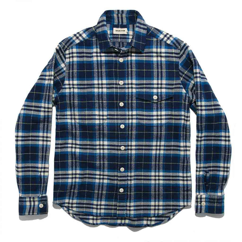 The Crater Shirt in Blue Plaid