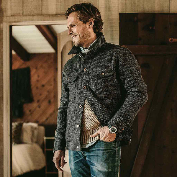 The Long Haul Jacket in Wool Beach Cloth - The Revive Club