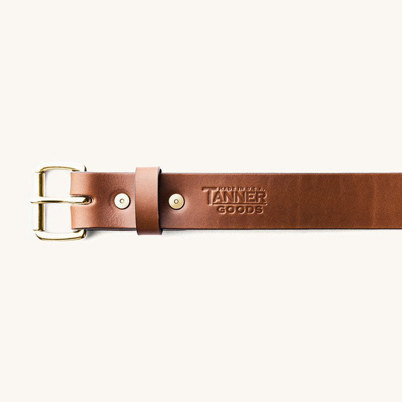 Standard Belt - Cognac / Brass - The Revive Club