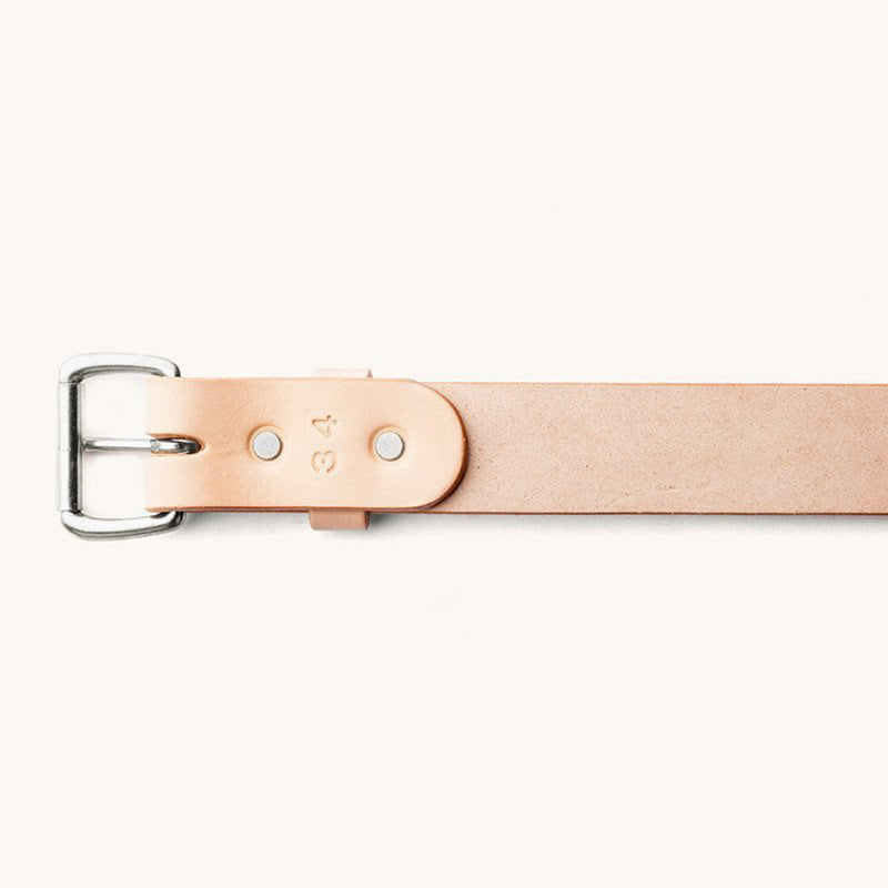 Standard Belt - Natural / Stainless - The Revive Club