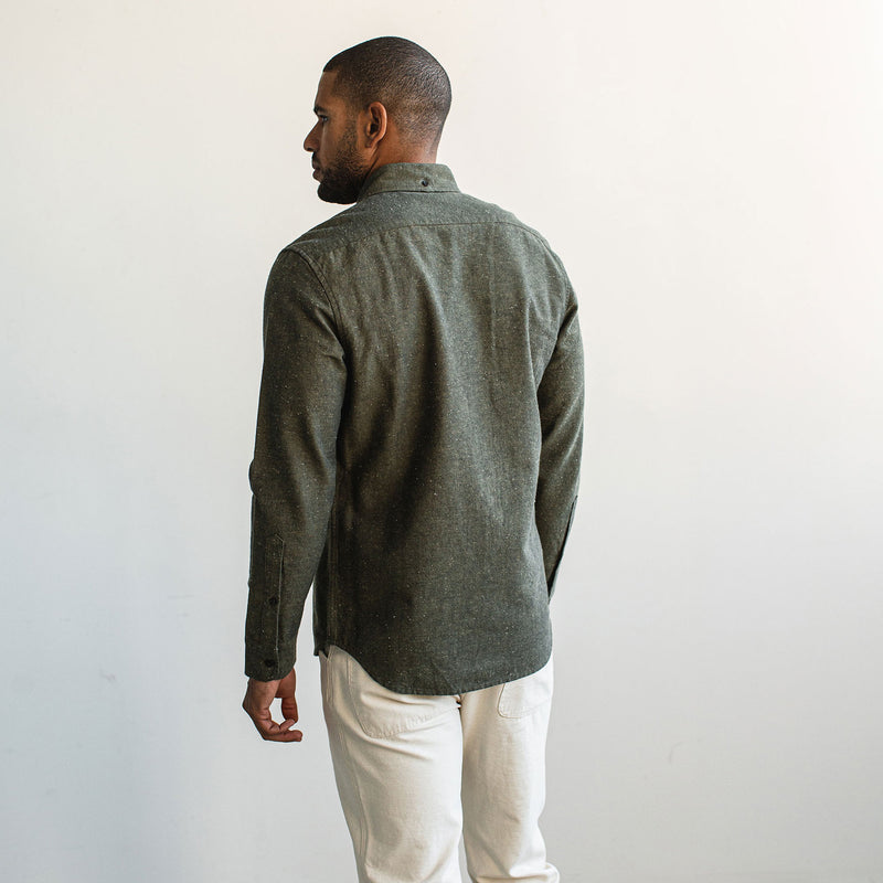 The Jack in Olive Slub Chambray