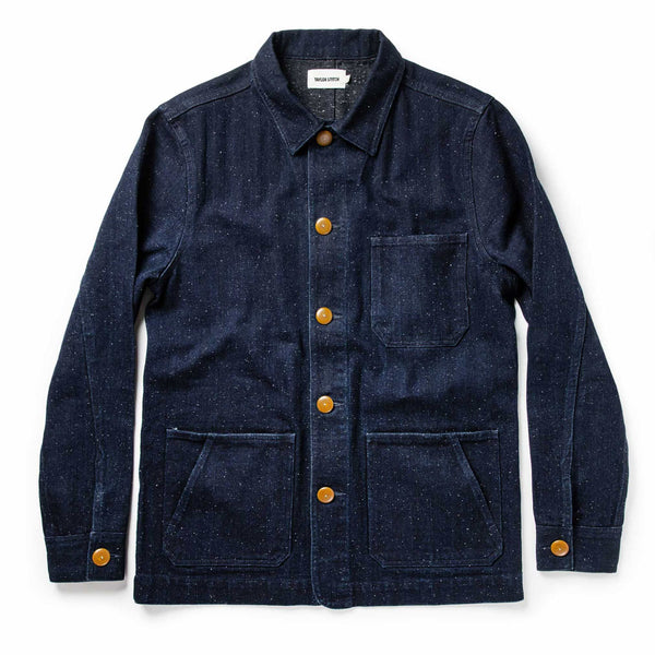 Ojai Jacket in Indigo Herringbone