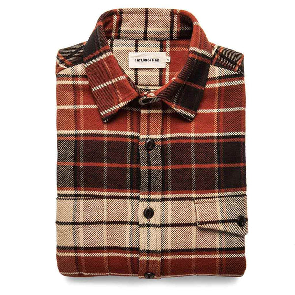 Crater Shirt in Rust Plaid - The Revive Club