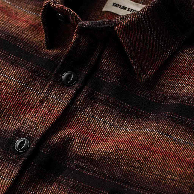 Moto Utility Shirt in Sunset Stripe - The Revive Club