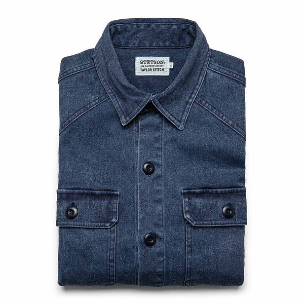 The Shop Shirt in Indigo Boss Duck - The Revive Club