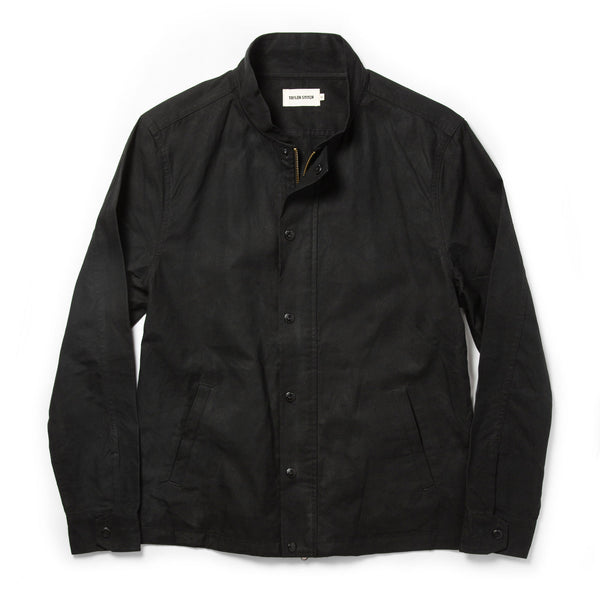 Coming Soon - The Bomber Jacket in Black Dry Wax