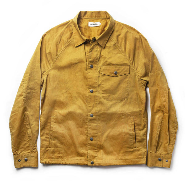 The Lombardi Jacket in Mustard Dry Wax