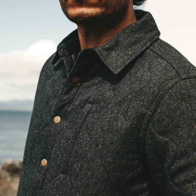 Wilton Jacket in Navy Birdseye Wool