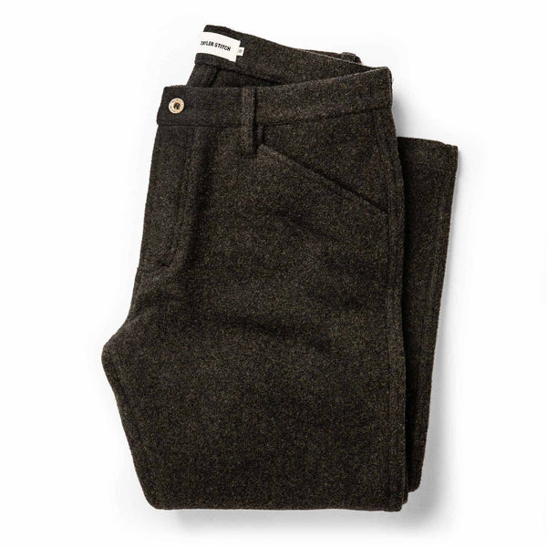 Coming Soon - The Camp Pant in Dark Moss Wool