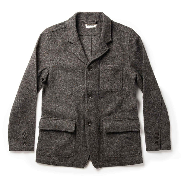 Coming Soon - The Gibson Jacket in Charcoal Birdseye Wool