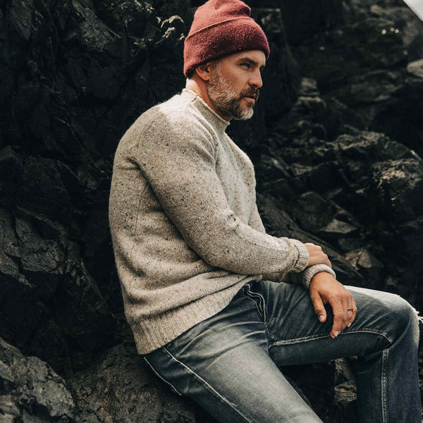 The Seafarer Sweater in Natural Donegal