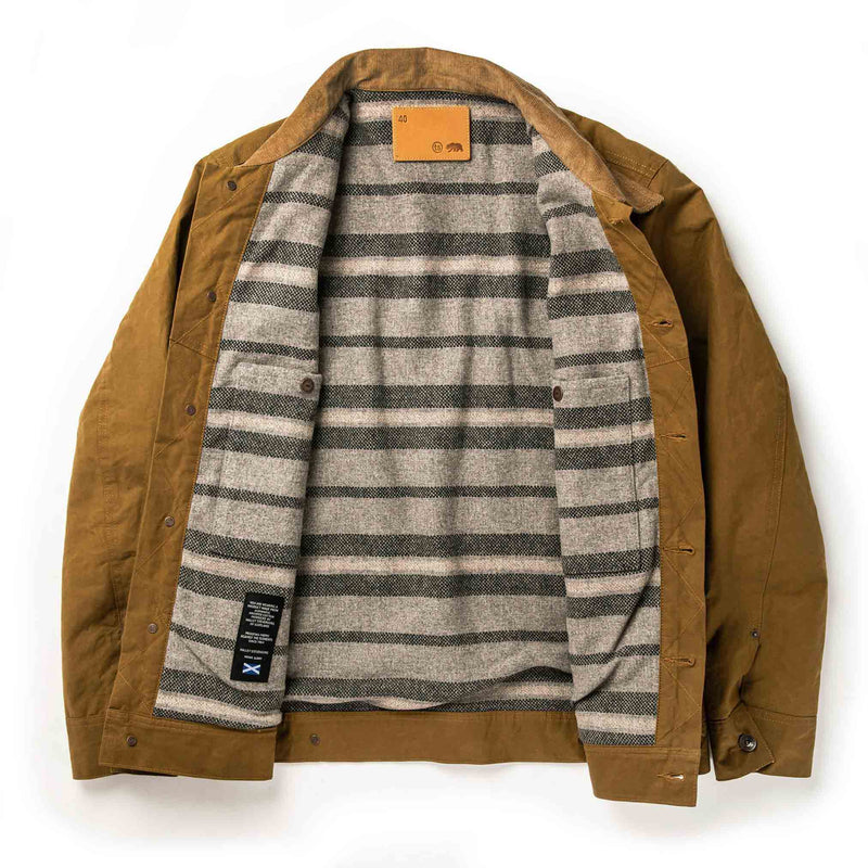 Coming Soon - Lined Long Haul Jacket in Harvest Tan Dry Wax