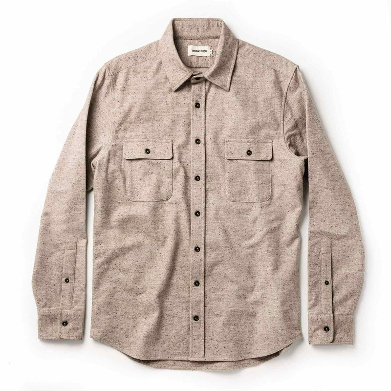 Yosemite Shirt in Oat Donegal