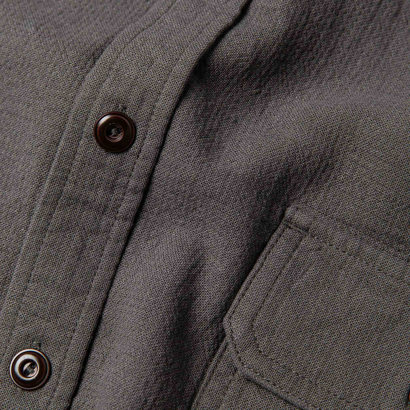 Coming Soon - The Corso in Charcoal Double Cloth