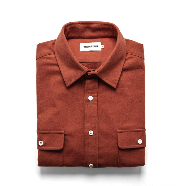 The Yosemite Shirt in Dusty Red - The Revive Club
