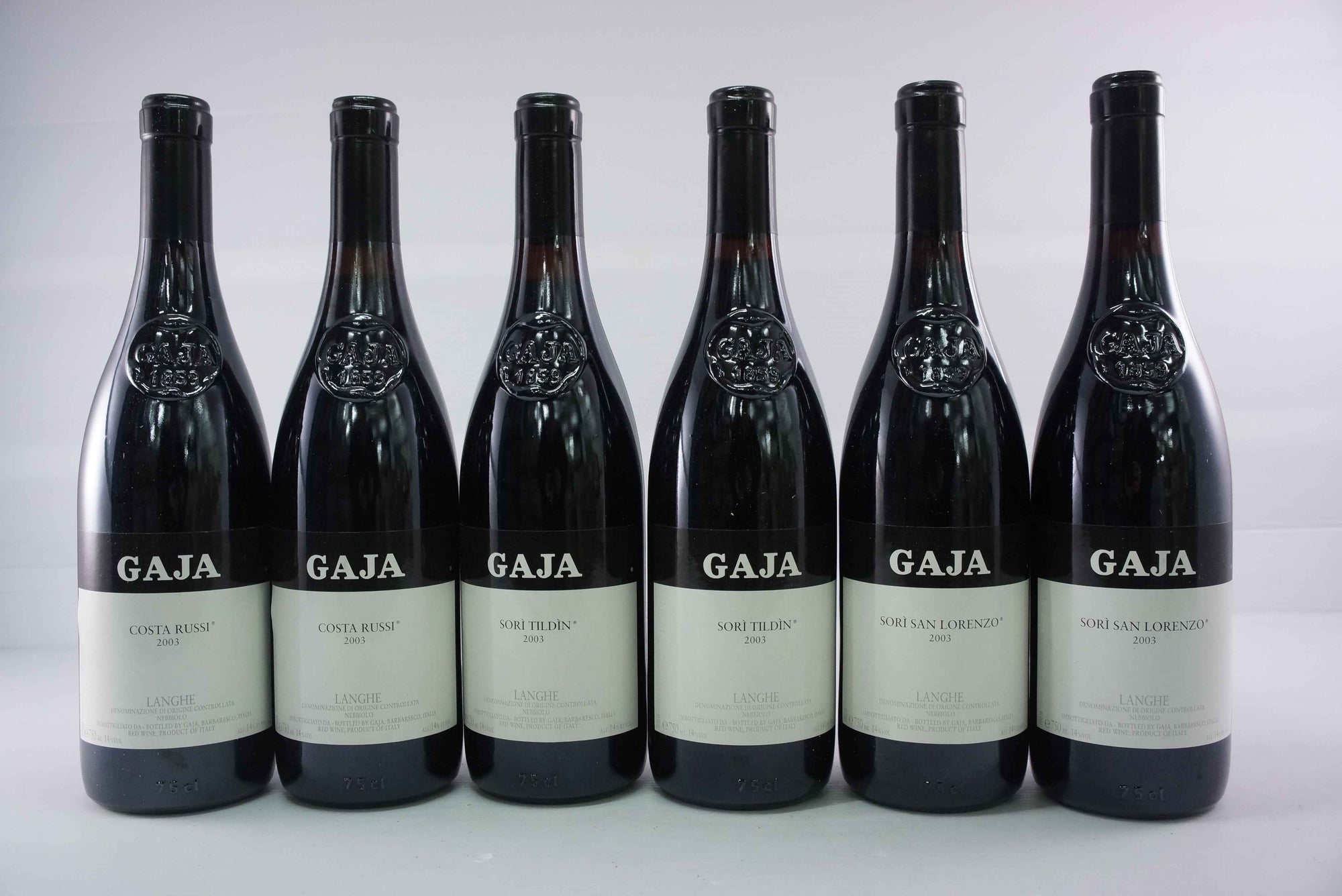 Gaja Assortment Case (6 bottles) 2003