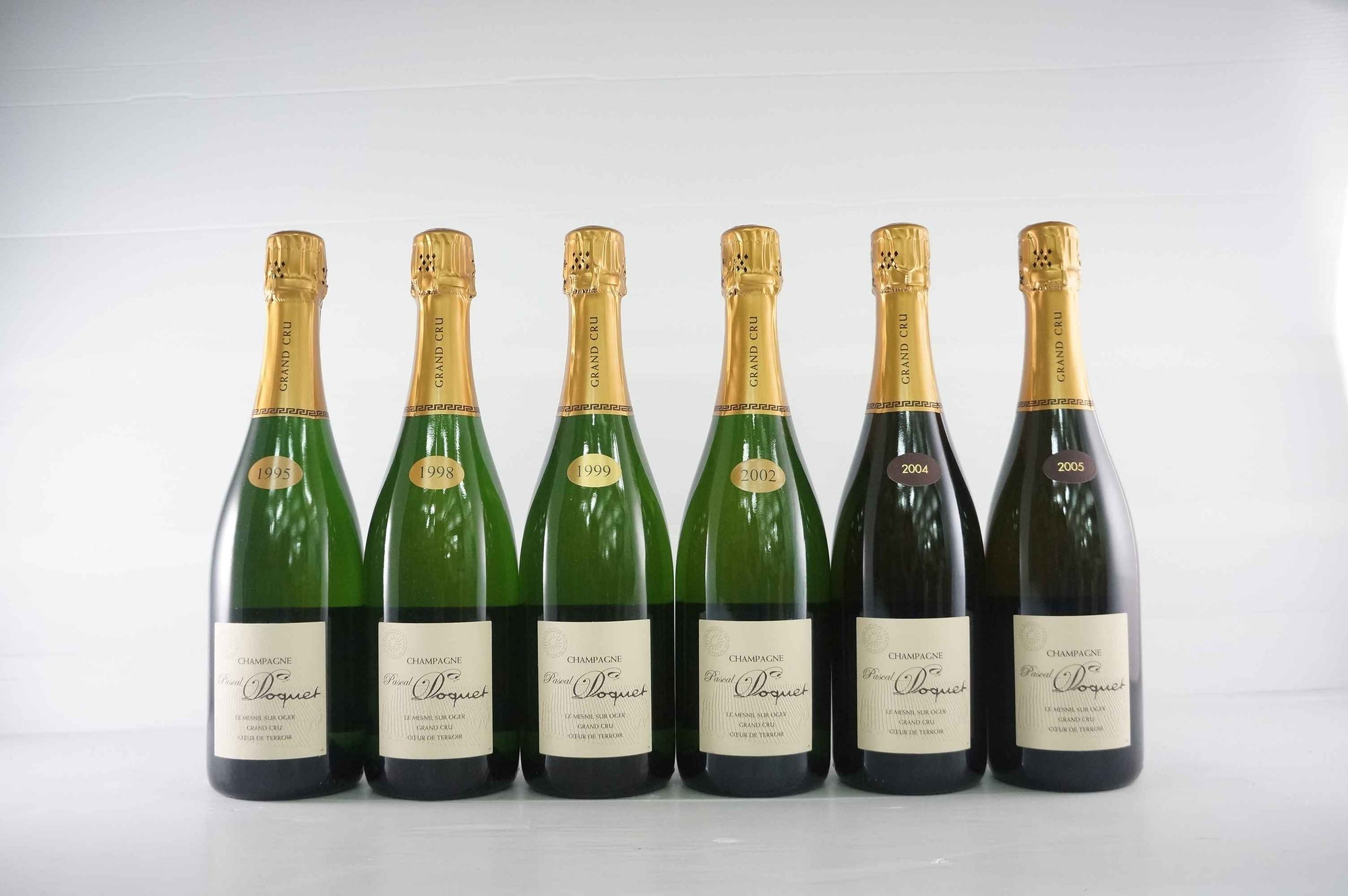 Pascal Doquet Coeur de Terroir Blanc de Blancs Le Mesnil Sur Oger Grand Cru Assortment Case (95, 98, 99, 02, 04, 05) MV