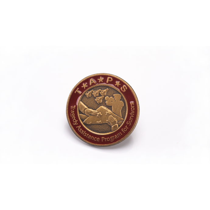 TAPS Lapel Pin with Brass Finish