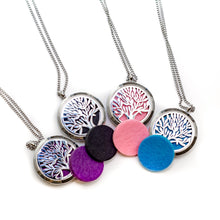 Load image into Gallery viewer, Tree of Life Aromatherapy Locket Necklace