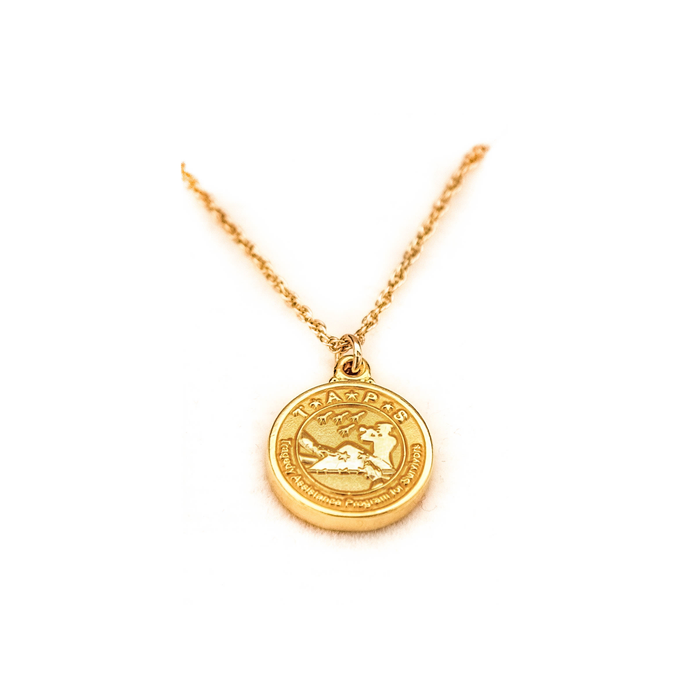 TAPS 18k Gold Plated Necklace and Logo Charm