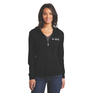 LOVE LIVES ON Women's Fitted Jersey Full-Zip Hoodie