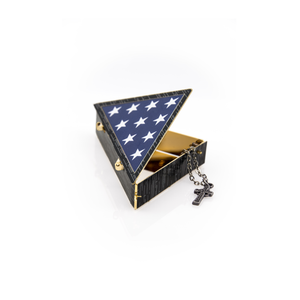 Folded Flag Keepsake Box 24k Gold